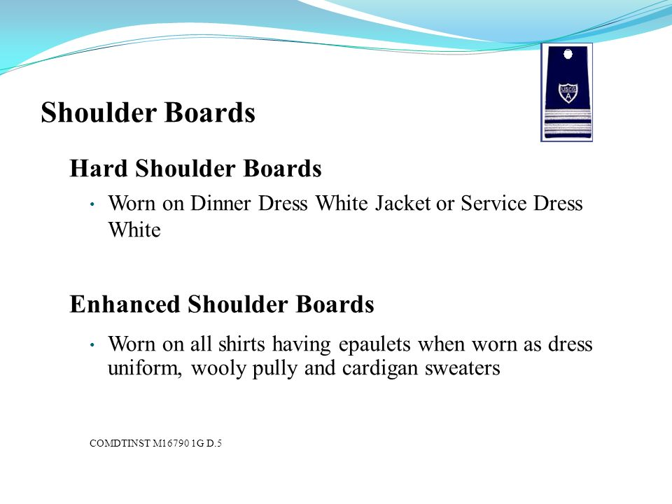 Shoulder Boards Hard Shoulder Boards Enhanced Shoulder Boards