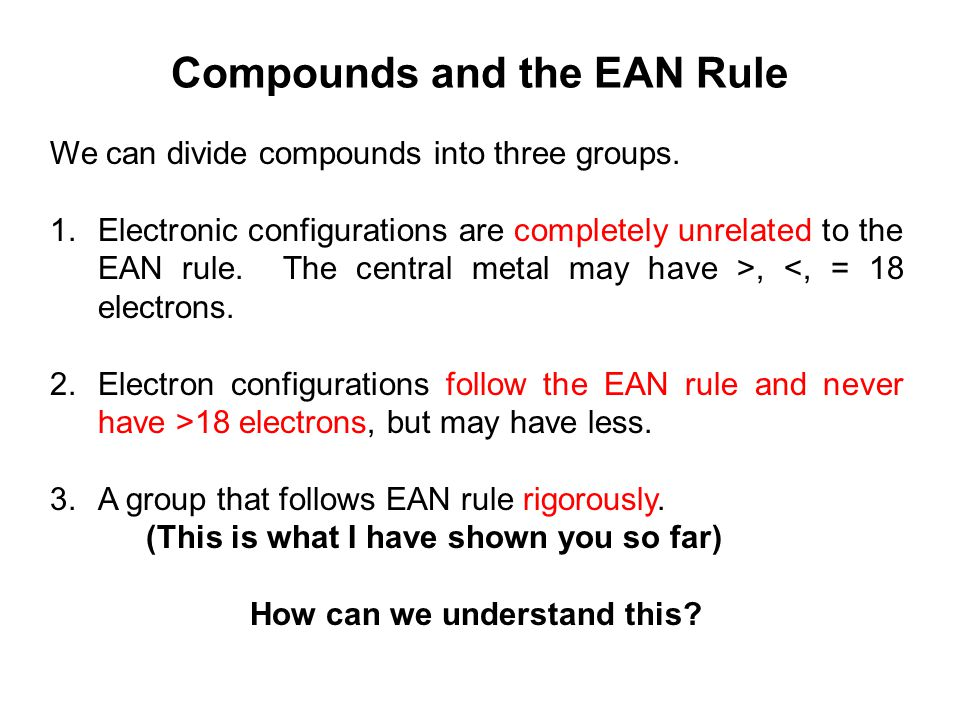 Compounds and the EAN Rule