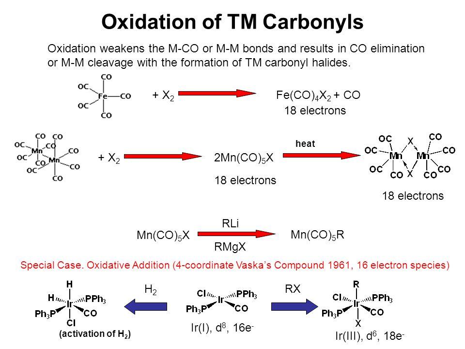 Oxidation of TM Carbonyls