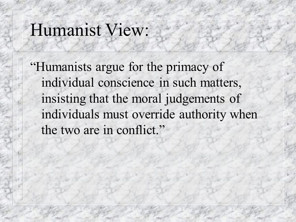 Humanist View: