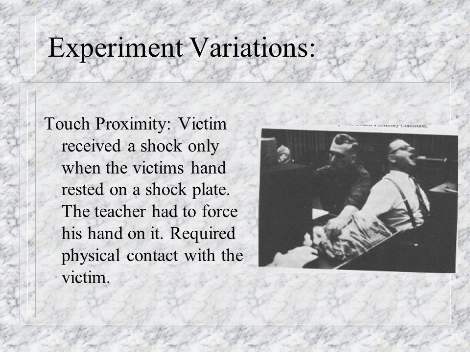 Experiment Variations: