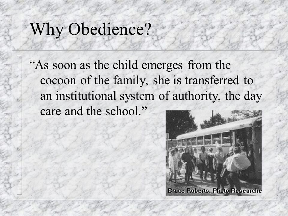 Why Obedience