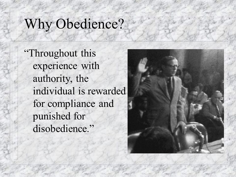 Why Obedience.