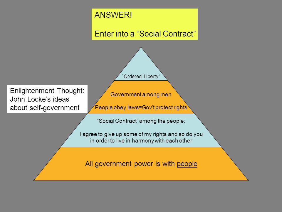 Enter into a Social Contract