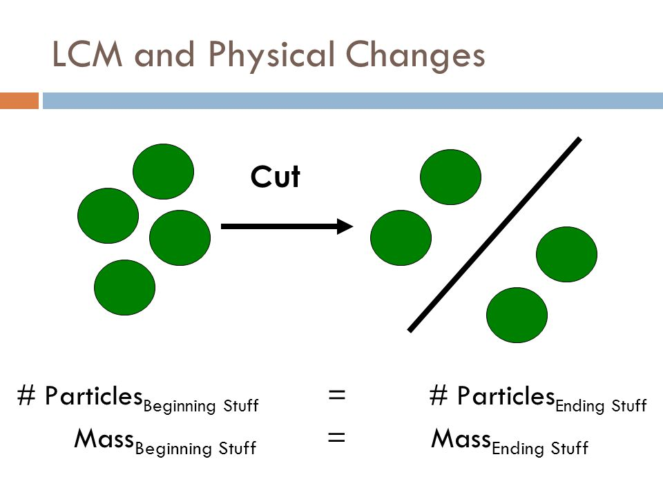 LCM and Physical Changes