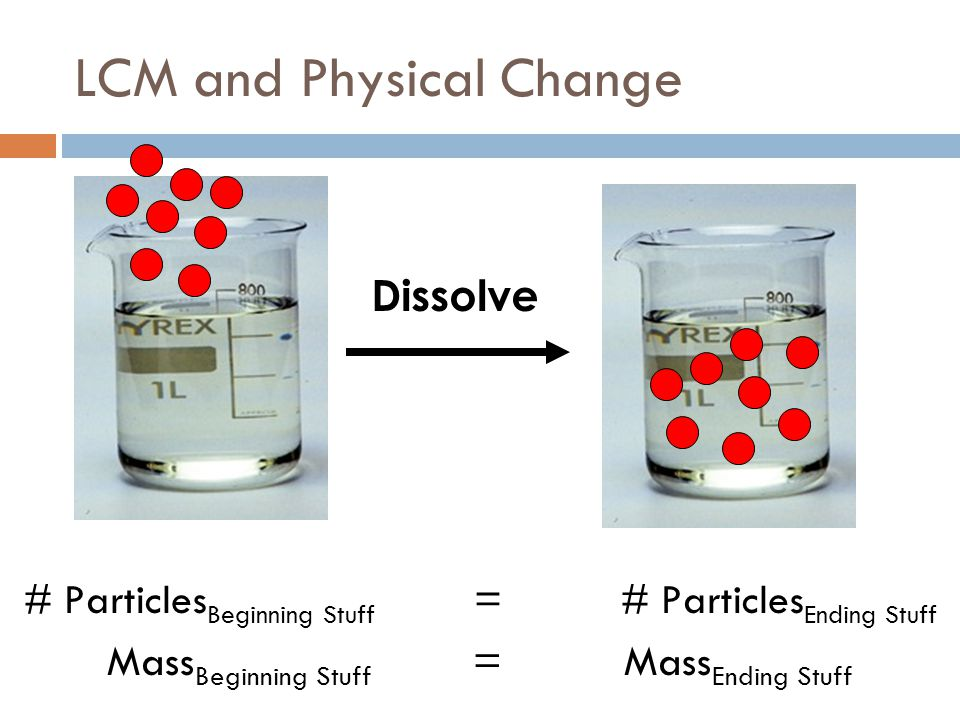LCM and Physical Change