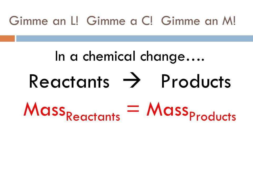 Gimme an L! Gimme a C! Gimme an M!