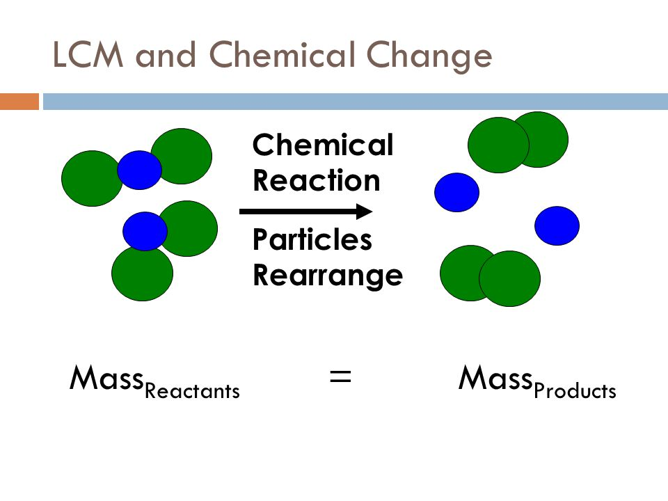 LCM and Chemical Change