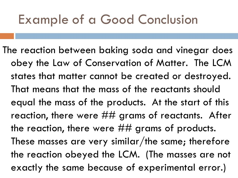 Example of a Good Conclusion
