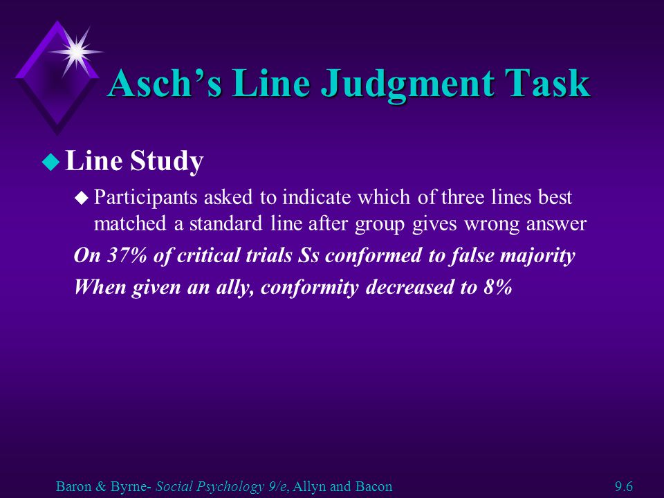 Asch's Line Judgment Task