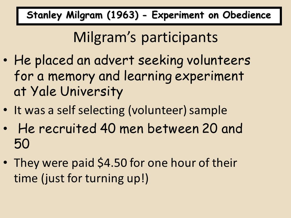Milgram's participants