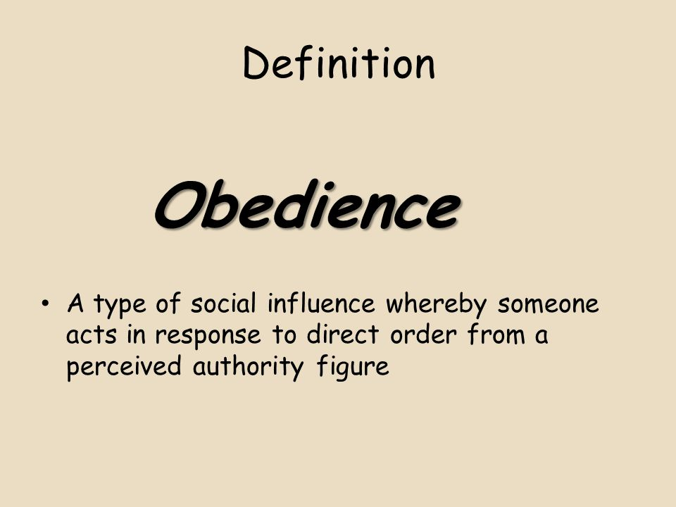 Definition Obedience.