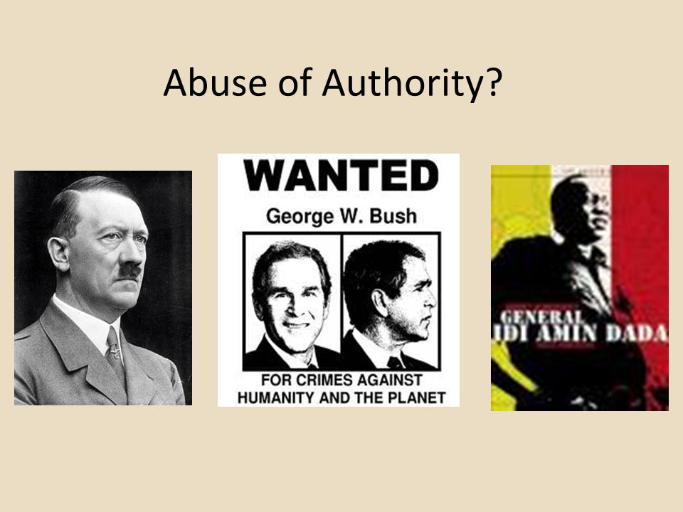 Abuse of Authority