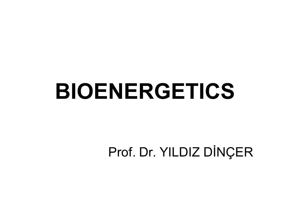 BIOENERGETICS BI Prof. Dr. YILDIZ DİNÇER