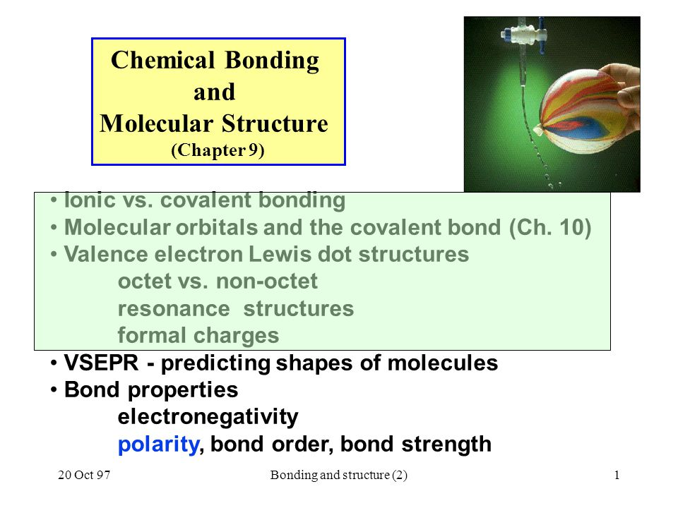 Chemical Bonding and Molecular Structure (Chapter 9)