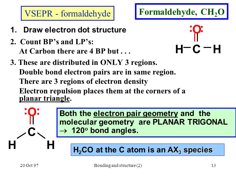1. Draw electron dot structure