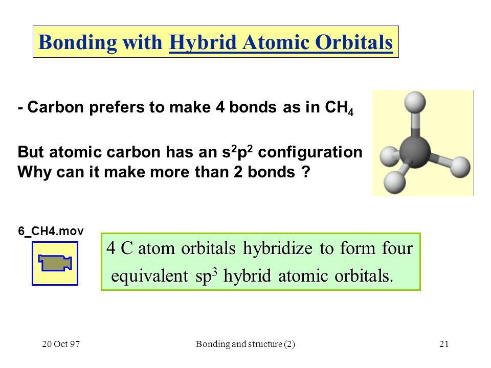 Bonding with Hybrid Atomic Orbitals