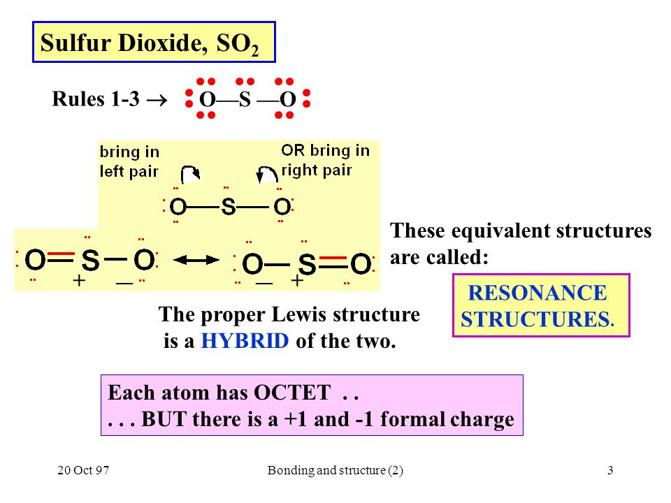 Bonding and structure (2)