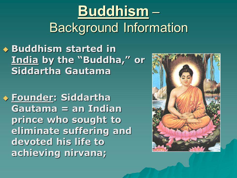 Buddhism – Background Information