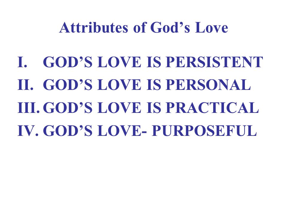 Attributes of God's Love