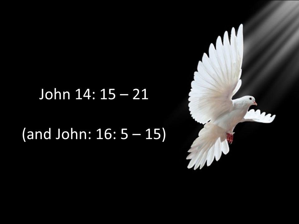 John 14: 15 – 21 (and John: 16: 5 – 15)