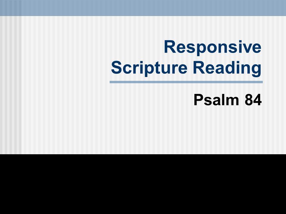 Responsive Scripture Reading