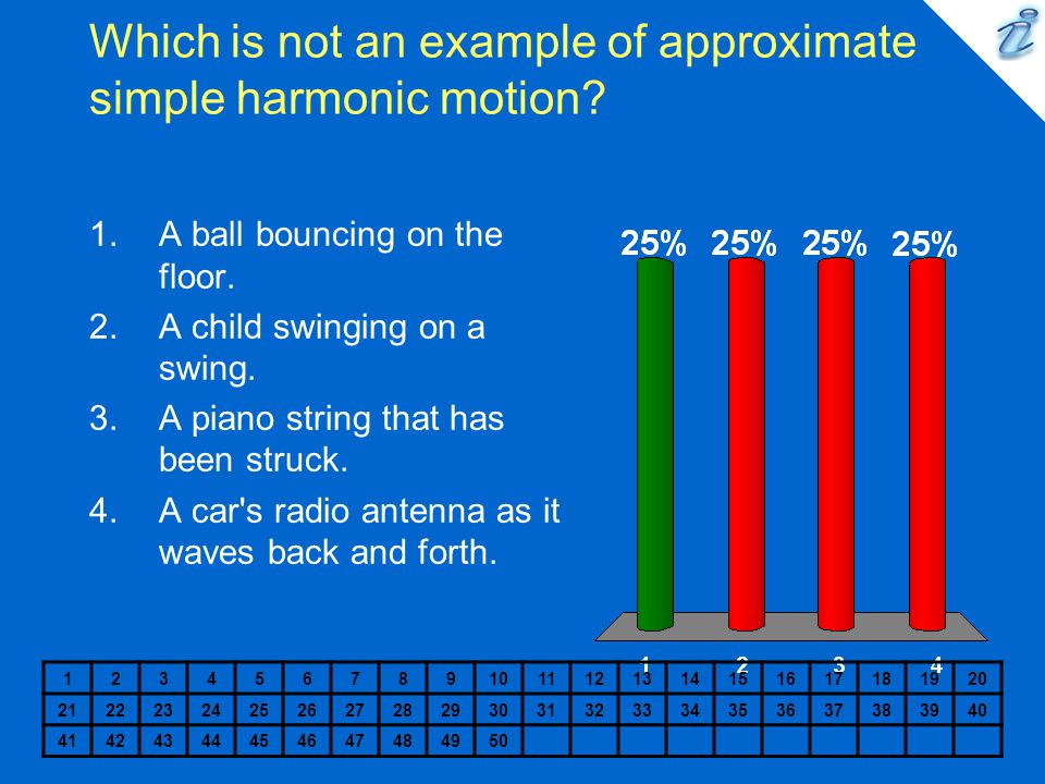 Which is not an example of approximate simple harmonic motion