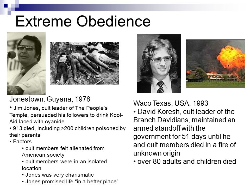 Extreme Obedience Jonestown, Guyana, 1978