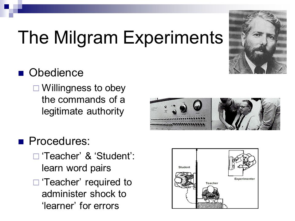 The Milgram Experiments