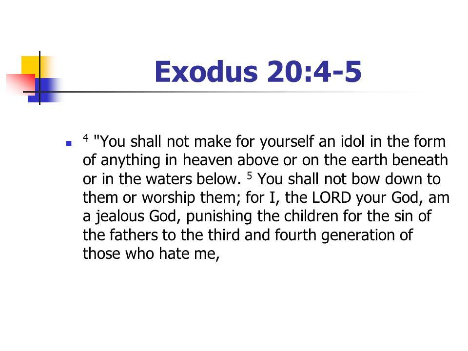 Exodus 20:4-5