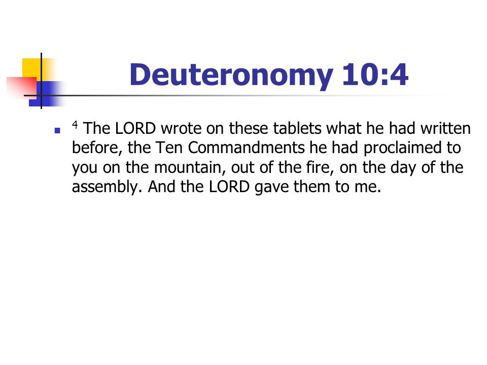 Deuteronomy 10:4