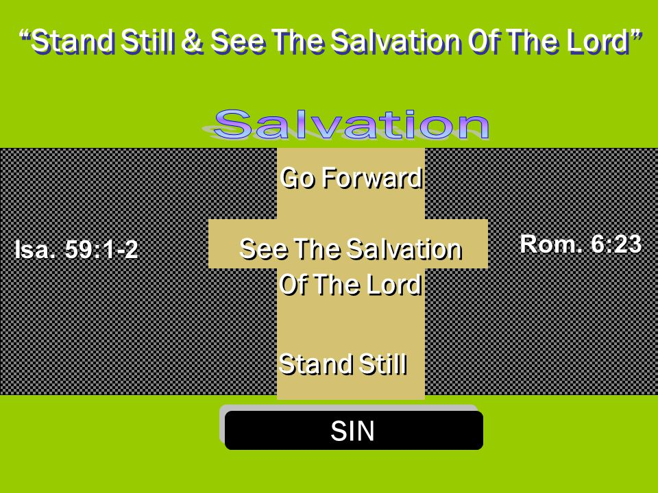 Stand Still & See The Salvation Of The Lord