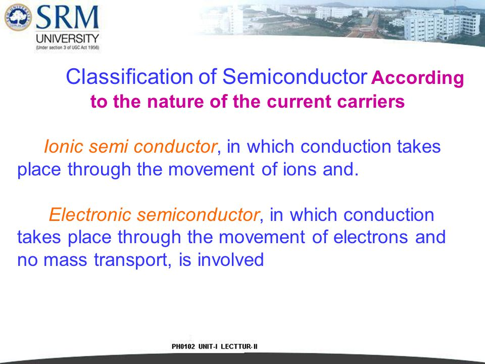 Classification of Semiconductor According