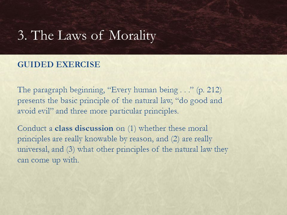 3. The Laws of Morality