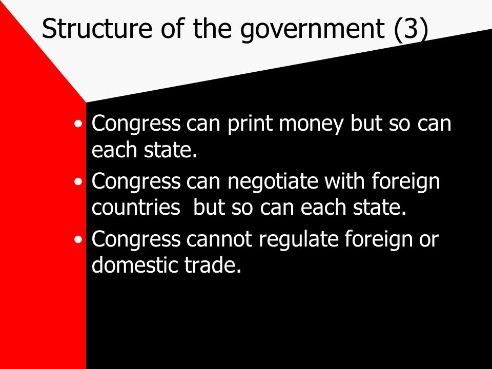 Structure of the government (3)