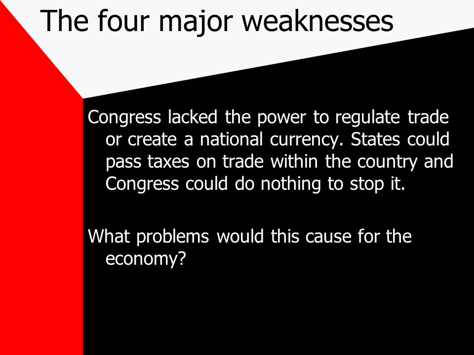 The four major weaknesses
