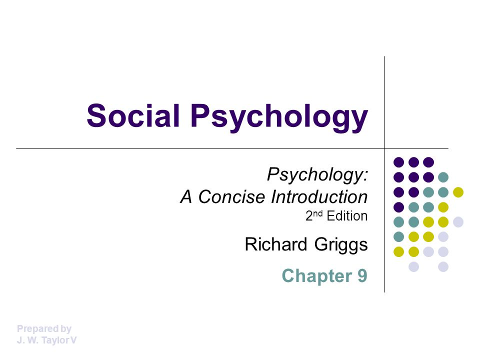 Social Psychology Psychology: A Concise Introduction 2nd Edition