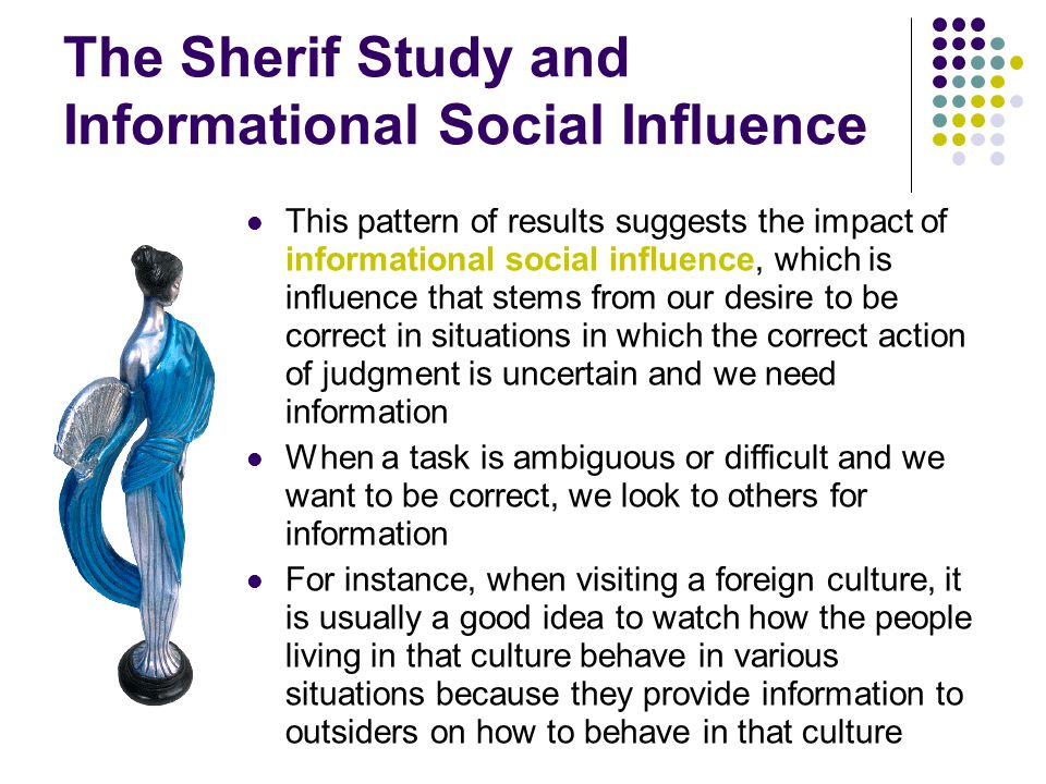 The Sherif Study and Informational Social Influence
