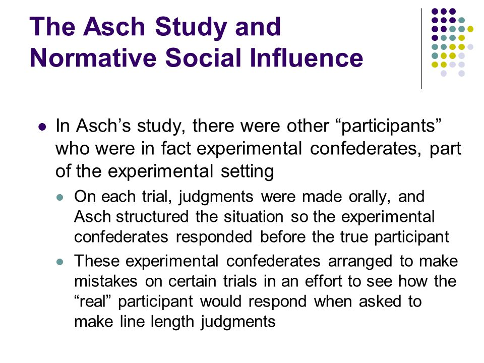 The Asch Study and Normative Social Influence