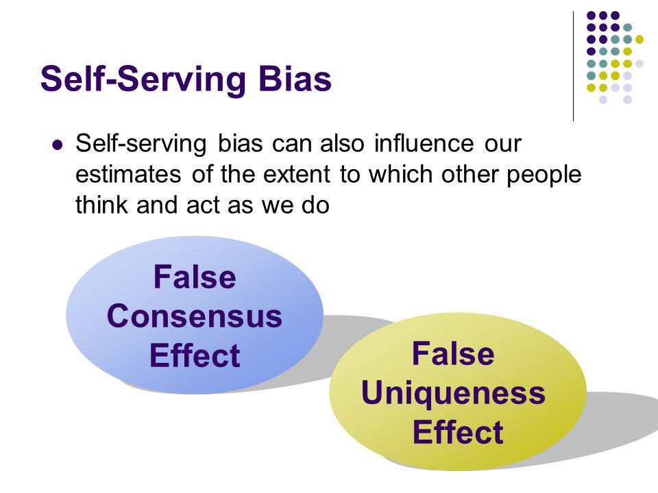 False Consensus Effect False Uniqueness Effect