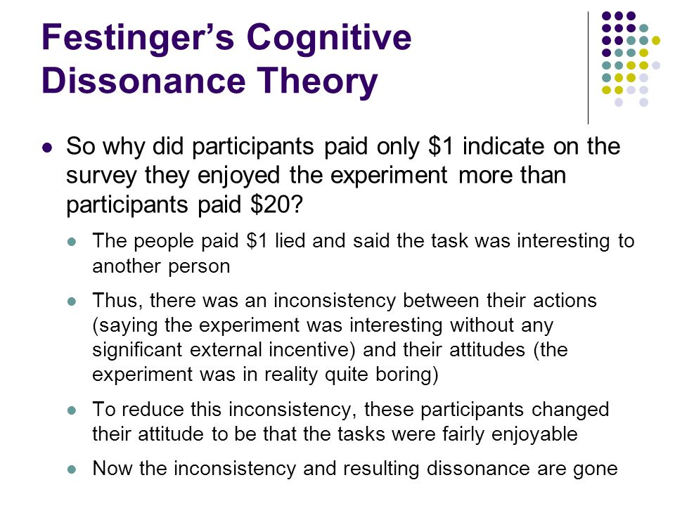 Festinger's Cognitive Dissonance Theory