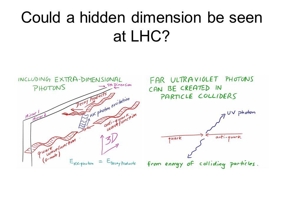 Could a hidden dimension be seen at LHC