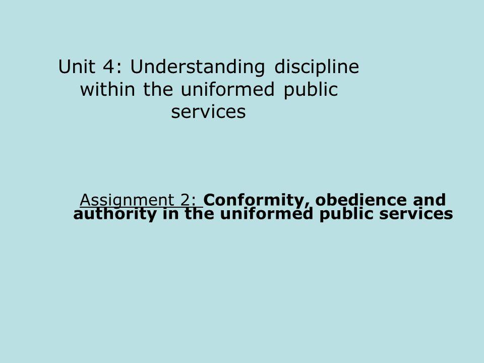understanding discipline in the uniformed public