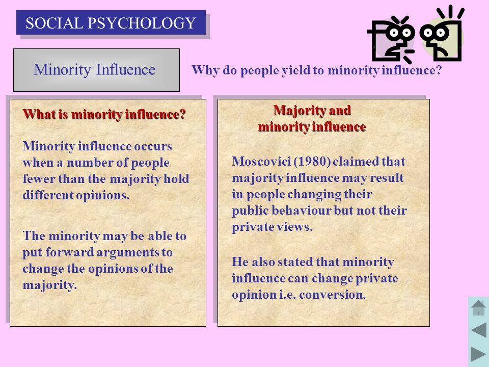 Majority and minority influence What is minority influence