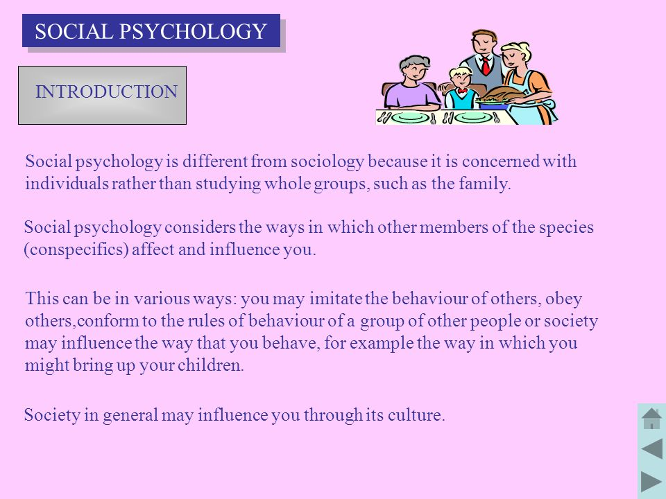 SOCIAL PSYCHOLOGY INTRODUCTION