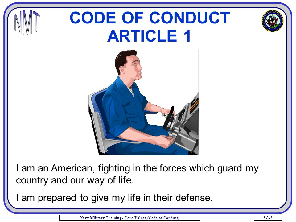 CODE OF CONDUCT ARTICLE 1
