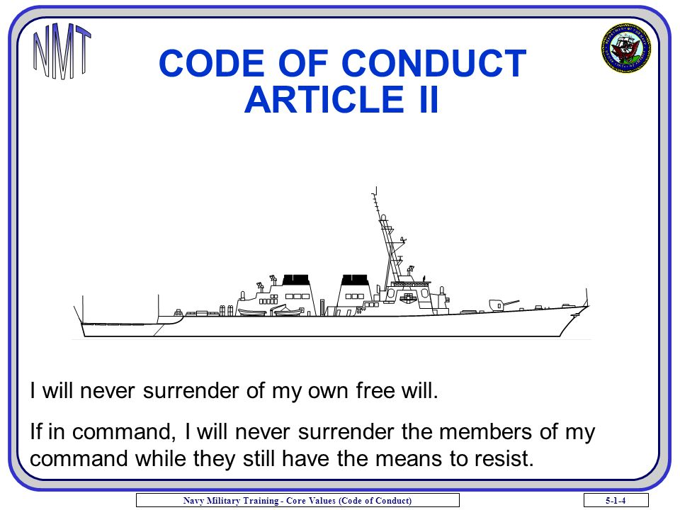 CODE OF CONDUCT ARTICLE II