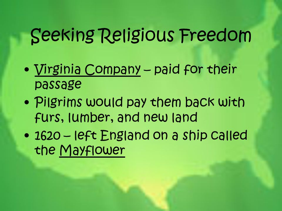 Seeking Religious Freedom