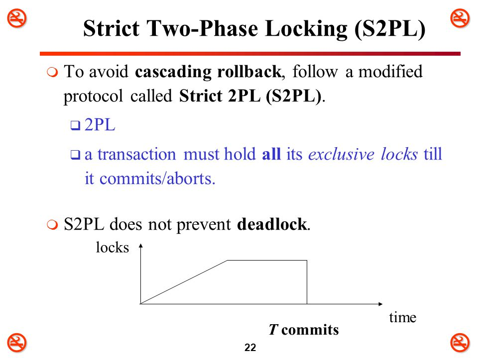 Strict Two-Phase Locking (S2PL)