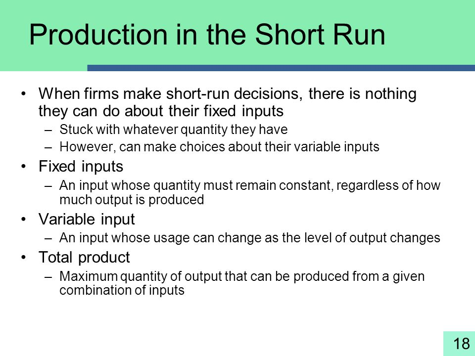 Production in the Short Run